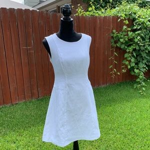 The limited 100% cotton white A line dress